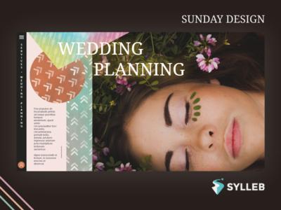 Wedding planning concept Sunday Design wedding planning design web website web design webdesign