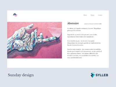 Poetry post Concept - Sunday Design minimal design website ux webdesign web design