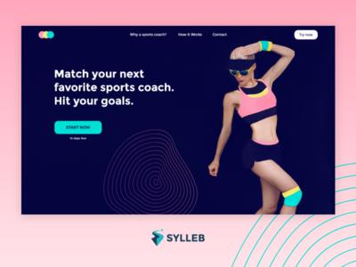 Concept Sports Coach colors web web design website webdesign