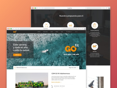 Go Fit sport gym go fit ux ui web proposal redesign