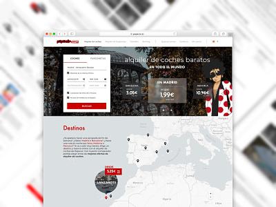 Pepecar home proposal proposal redesign rent car rental pepecar block adaptive web ux ui design