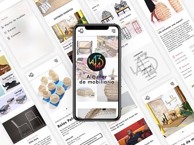 La1314 minimal furniture website ux ui design web