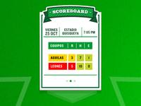 Baseball Scoreboard Widget