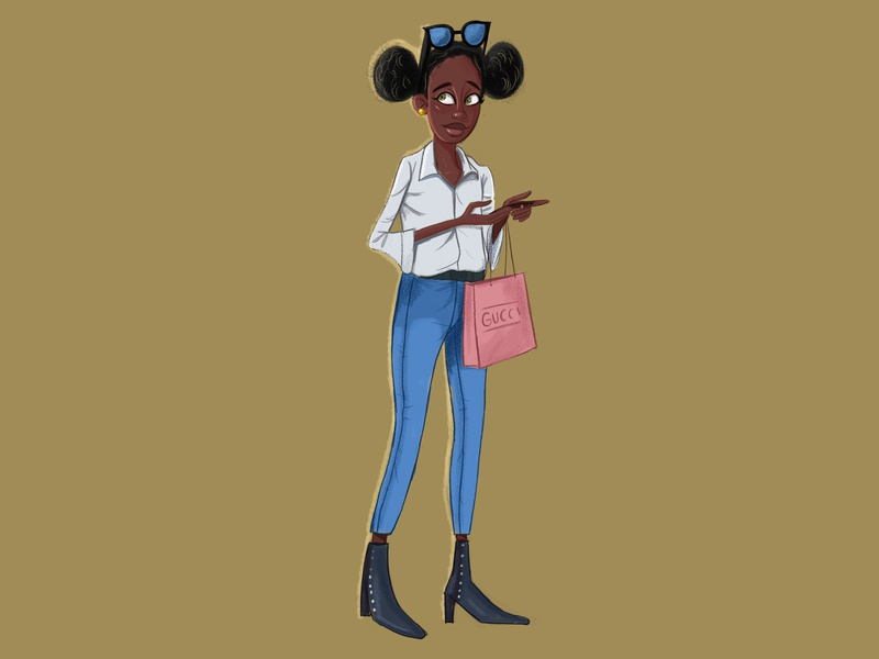 Shopping Plans drawing characters girl character character design illustration