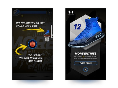 Curry 4 : More Fun Game sc30 golden state warriors steph curry under armour social activation art direction product design uiux game design
