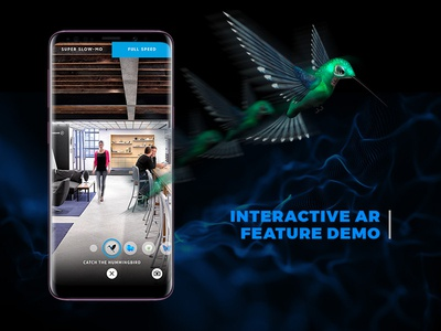 Explore 837 : AR Demo new media augmented reality samsung s9 samsung explore837 user interface art direction ar uiux product design