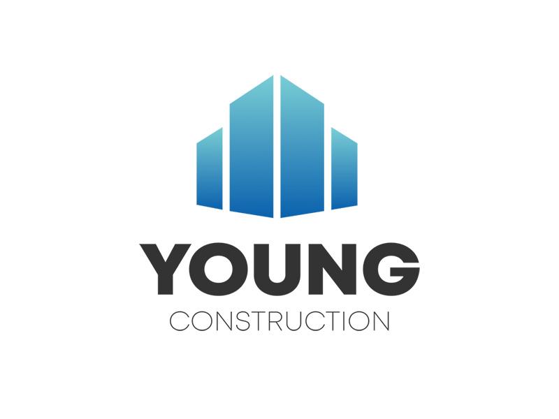 Young Construction : Logo Design illustration guidelines brand design branding construction logo logo design