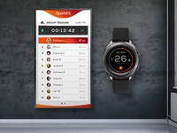 SparkFit : Group Training System Concept