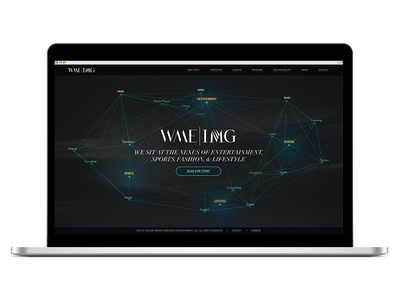 WME | IMG : WebGL Homepage art direction 3d img wme web gl mobile design web design interaction design uiux