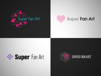Super Fan Art : Logo Options art direction illustration graphic design branding and identity branding logo design logo