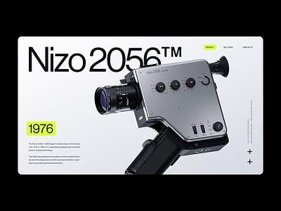Braun Nizo 2056 Camera lens 3d cgi vintage modern typography landingpage website webdesign nizo camera braun minimalism animation ui design ux design ux ui