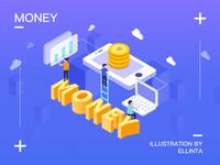 2.5d Financial illustration