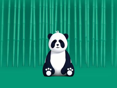 Rolling PANDA 3d art cinema 4d cinema4d illustration after effects motion graphics animation bamboo chinese china panda