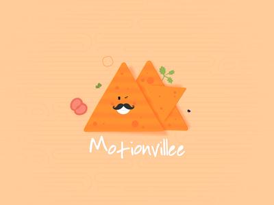 Mv Nachos:) illustration logo 2d flat design