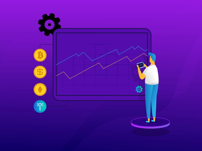 Recent Motion Design coins laptop circles crypto trading bitcoin circle pie graph character animation morphing 2d after effects motion graphics animation flat design