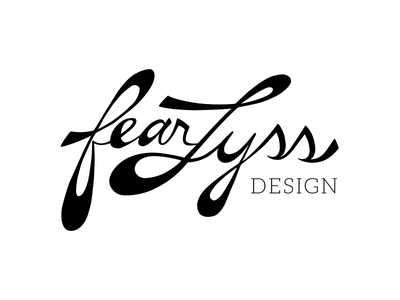 fearLyss typography personal logo branding
