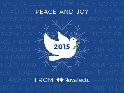 NovaTech Holiday Card snowflake olive branch dove novatech card holiday