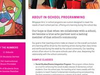 In-School Program Info Sheet