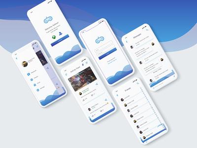 Gamer's Social App user interface ux ui