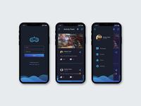 Gamer's Social App Dark Theme
