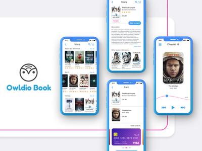 Owldio Book mobile design mobile ux ui