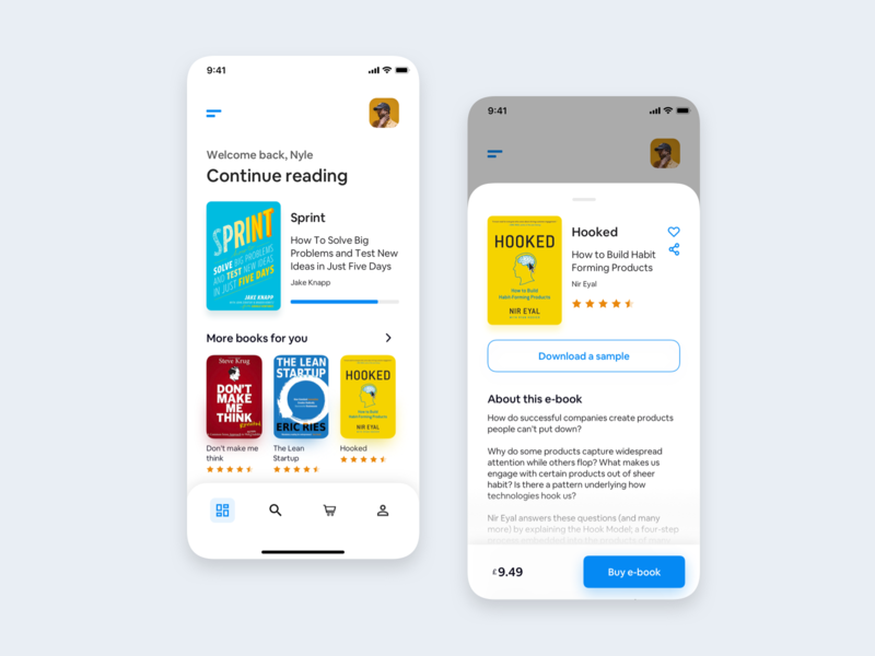 Bookstore - UX books new shot new style product design overlay modal drawer book store book shop bookstore mobile design app design app user experience mobile user interface ux ui