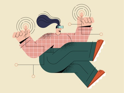 Technology web design web virtual reality vr technology adobe illustrator flat mobile character design free vector ui character illustration character illustration