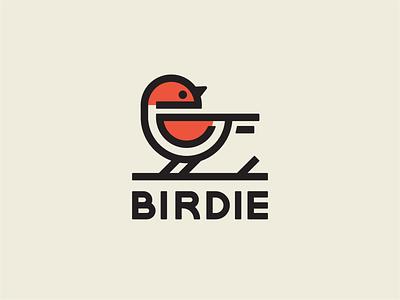 Birdie Logo line logo design birdie bird logo bird icon character design branding logo illustration vector