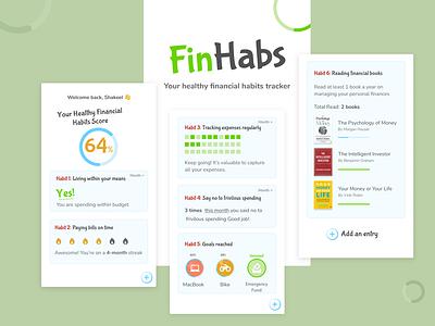 FinHabs - Finance Tracker funky dashboard ui design expense tracker finance tracker app design mobile design design