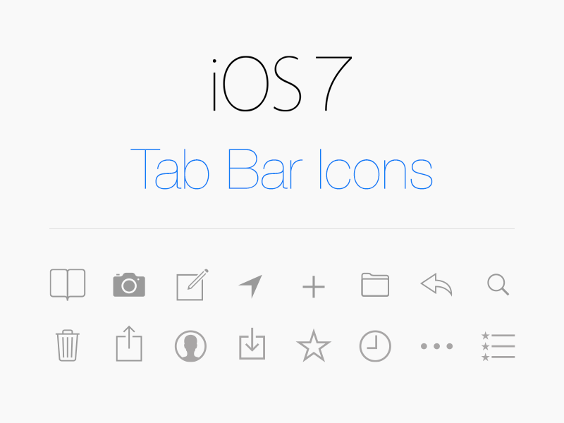 Vector Tab Icons IOS 7 By Matthias Kampitsch On Dribbble
