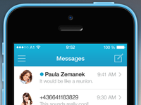 mysms for iOS 7 - Message Overview