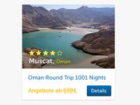 Travel Offer Card