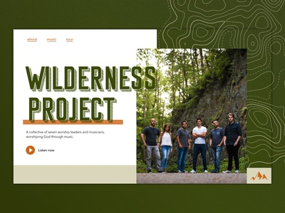 Wilderness Project Music Landing Page
