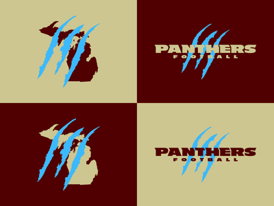 Michigan Panthers Resurrection michigan logo typography branding design vector football