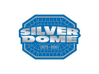 Silverdome nfl lions typography vector v detroit stadium football logo