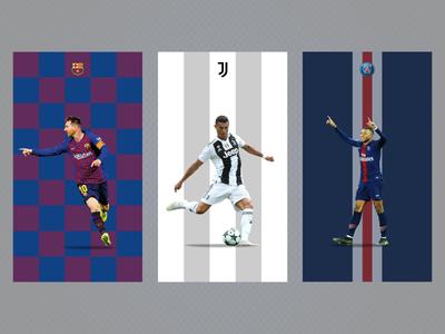 Messi | Ronaldo | Mbappé wallpaper