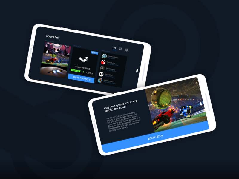Steam Link App - Redesign by Connor Thompson on Dribbble