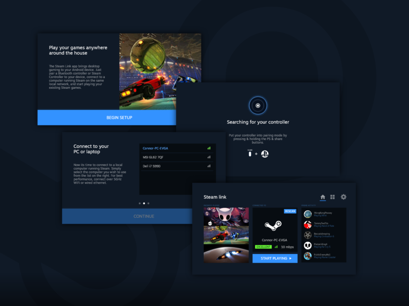 Steam Link App - Redesign - 2 by Connor Thompson on Dribbble