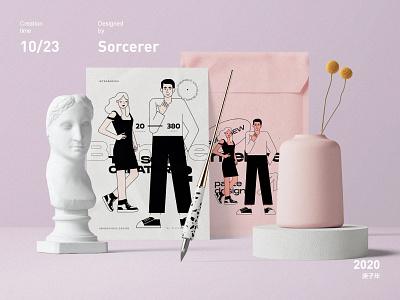 Small figures vector design branding illustration