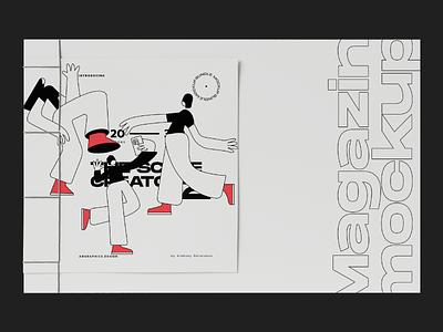Black and white illustration branding typography illustration