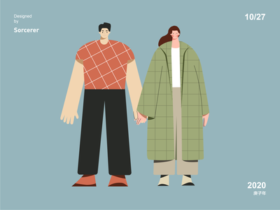 Chubby Illustrator flat branding ux design illustration