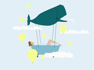 flight flat vector design illustration