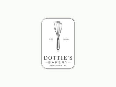 Dottie's Bakery bakery logo food bakery design brand development badge logo branding