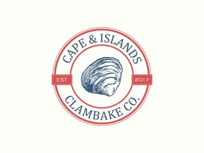 Cape and Islands icon graphic design east coast logo badge illustration food design clambake clam brand development branding