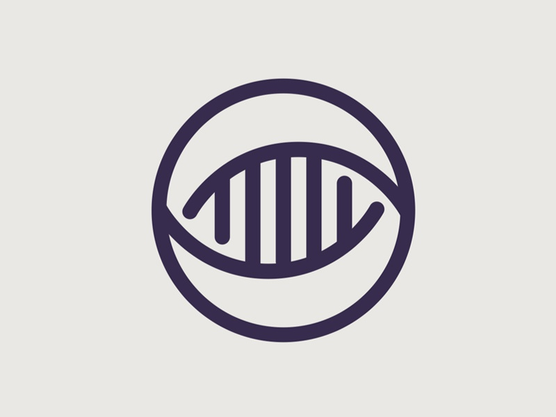 Medical Research Logo Concept icon design branding logo minimal eye helix medical research