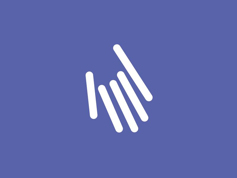 Rays of Help logo concept nonprofit organization logo design branding stripes lines hand help rays