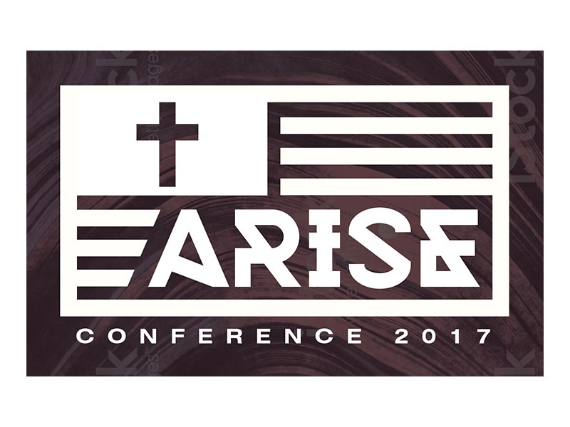 Arise Conference 2017 Design flag icon logo conference cross american flag arise