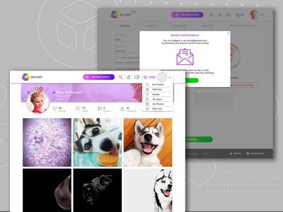 """Website for """"SELFLLERY"""" Profile&Conformation"""