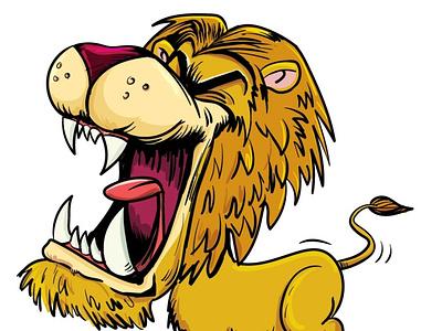 Roaring lion fun humour adobeillustrator illustrator vector illustration cartoon
