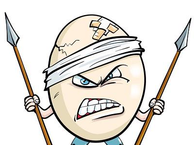 Angry egg fun funny adobeillustrator illustrator vector cartoon